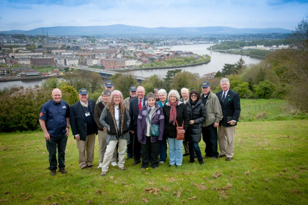 On a hill overlooking Derry and the River Foyle